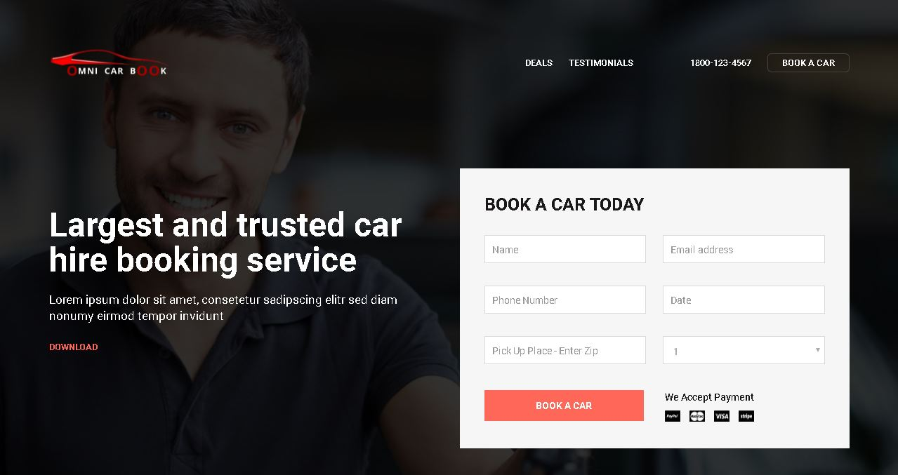 Auto Rental Agency Website