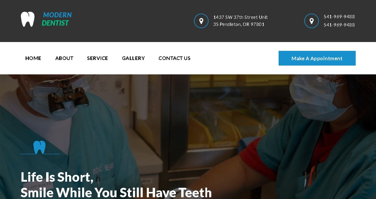 Deluxe Dentist Website