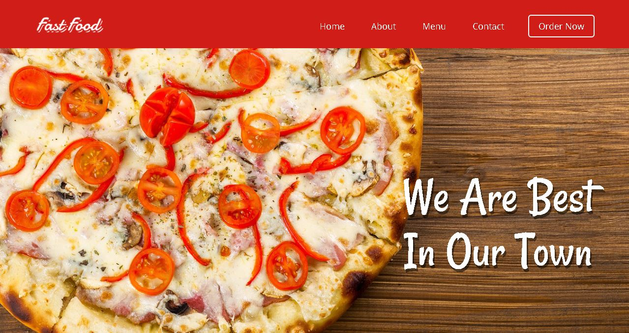 Fast Food Deluxe Website