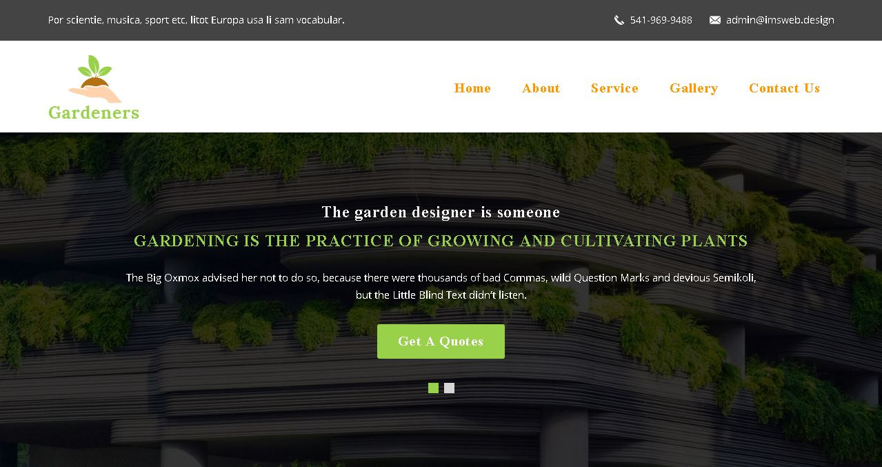 Landscaping Company Website