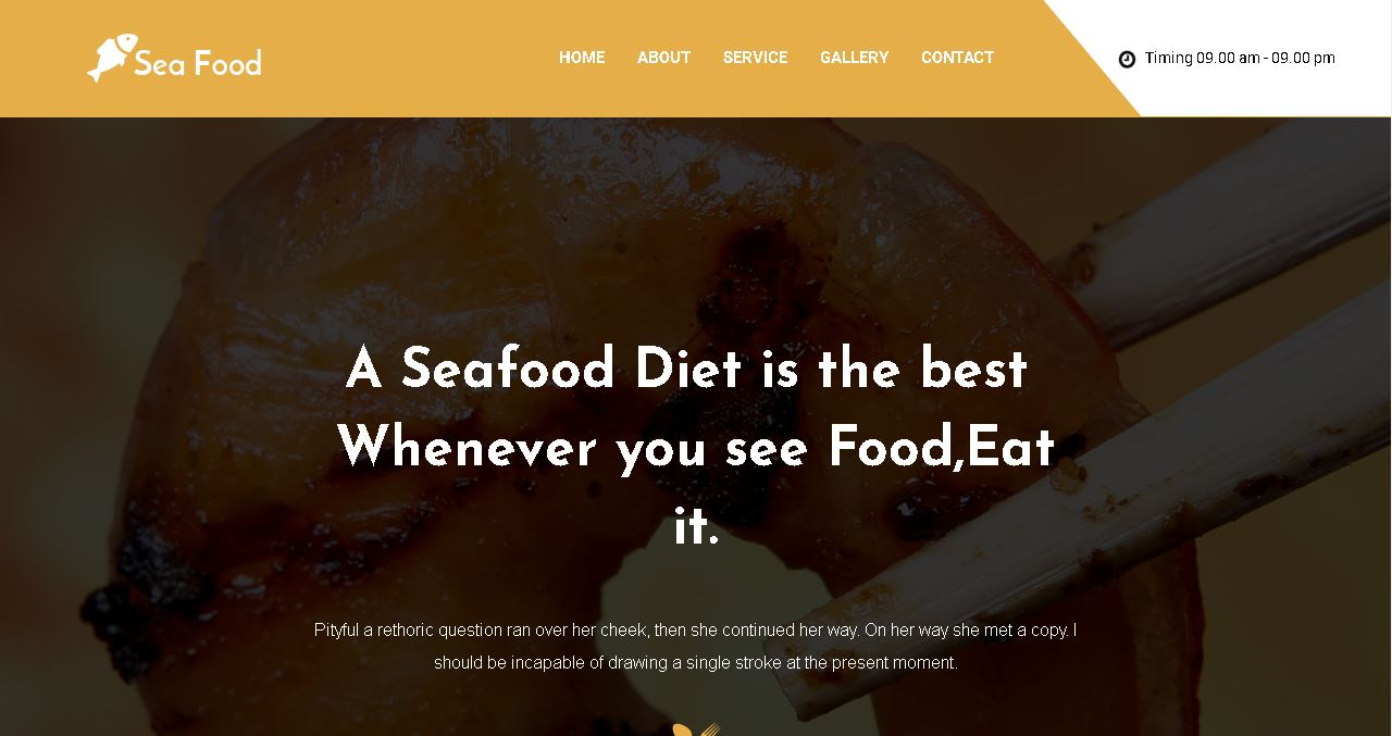 Seafood Restaurant Website